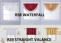 ROD POCKET WATERFALL CURTAIN VALANCE TASSEL EUROPEAN STYLE LINED DECOR RS8 RS9