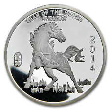 5 oz Year of the Horse Silver Round