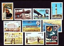Dubai 1970 mi.378/87 fine used C.T.O. Airport Bridge Bridge Hospital TV Station