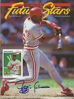 Reggie Sanders Signed 1992 Beckett Future Stars Magazine Reds