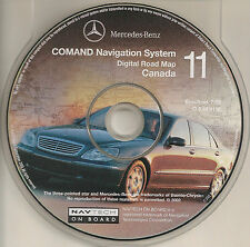 2001 2002 2003 Mercedes S600 S500 S430 S55 GPS Navigation CD Coverage Canada Map