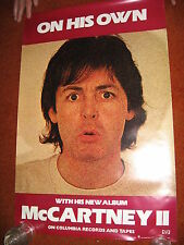 Paul McCartney PROMO POSTER >1980 On Your Own > 20x30 >CBS Records The Beatles