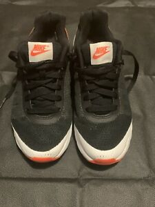 NIKE AIR Trainers Shoes Black/ White/ Orange Size 4