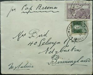 ARGENTINA 14 MAR 1931 POSTAL COVER FROM BUENOS AIRES TO BIRMINGHAM, ENGLAND