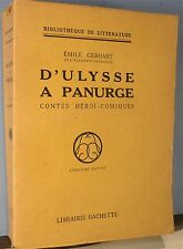 Gebhart; D'Ulysse à Panurge, contes Héroï-comiques, tbe…FREE Shipping*