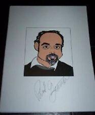 Paul Giamatti Cinderella Man, American Splendor Signed 8.5x11 Cartoon Autograph