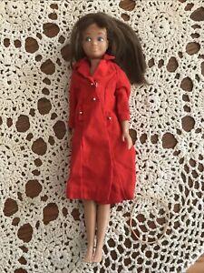 Vintage Barbie Skipper Mattel 1963 Doll  with Red Coat