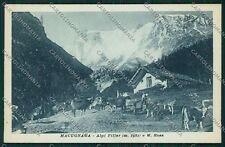 Verbania Macugnaga Monte Rosa cartolina QQ5457
