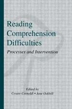 Reading Comprehension Difficulties : Processes and Intervention 1996 Hardcover