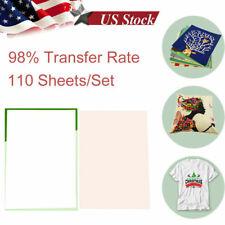 110pcs A4 Iron On Heat Transfer Sublimation Paper For Inkjet T Shirt Printer Mug