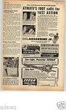 "1952 PAPER AD Chain Saw Two Man Gas Gasoline Titan 60"" 19"" Bow Automatic Clutch"