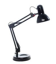Lampe de Bureau Noire Orientable en Métal   H 60  Chevet Rétro Déco Désign  40 W