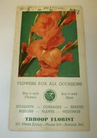 Throop Florist Angola Indiana Advertising Ink Blotter