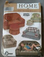 Simplicity 9575 Child Size Chairs & Loveseats Playroom Home Decor UNCUT FF
