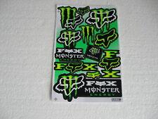 12 Sticker Aufkleber auf Bogen Energy Motorcross Monster Tuning Racing