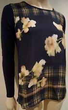 Weekend MaxMara Damen bunt Blumen & Karo Print Langarm Bluse Top