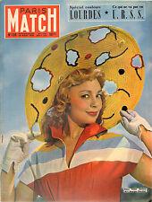 PARIS MATCH N°126 dany robin lourdes URSS balenciaga heckmair