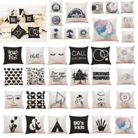 Home Decor Cushion Cover Black And White Style Throw Pillowcase Pillow Covers