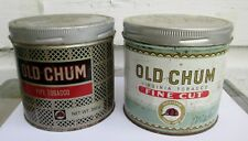 2 Vintage OLD CHUM TOBACCO TIN Can CANADA
