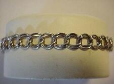 Sterling Silver Double Loop Bracelet for Charms or wear with out charms