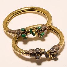 Vintage Solid Brass Bracelet Cuff `.` New Offer 2P_ Fashion Tibetan Silver