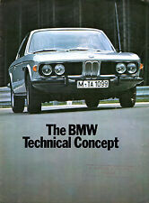 BMW Technical Concept 1971-73 UK Market Sales Brochure 2000 Touring 3.0 CSi Si