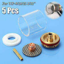 """5Pcs Welding Torch Glass Cup Champagne Nozzle Kit For TIG WP-9/20/25 3/32"""" 2.4mm"""