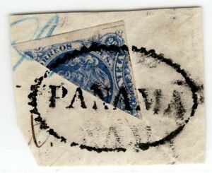 COLOMBIA - CLASSIC - 20c BISECTED ON PIECE - PANAMA CANCEL - Sc 75 - 1877 RRR