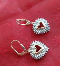 Wunderschöne Ohrringe in Gelbgold 585er mit Diamanten