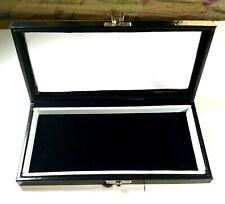 GEMSTONE Diamond Display Storage leather box Jewelry insert velvet 23x12x4 cm