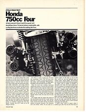 1969 Honda CB- 750 Super Sport Four cylinder 8 page road test (Reprint) $8.50