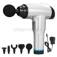 12 Gear Massage Gun Digital Muscle Pain Relaxing Massager 6800r/min 5 Heads