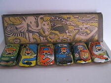 OLD SOVIET RUSSIA BOXED SET 6 TIN TOY JUNGLE CARS - WORLDWIDE SHIPPING