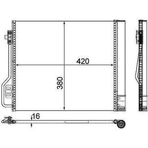 CONDENSATORE RADIATORE ARIA CONDIZIONATA  SMART FORTWO (W451)