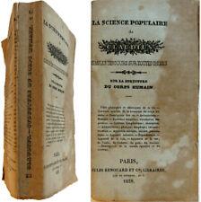 Sur la structure du corps humain Science populaire 1839 Claudius Charles Ruelle