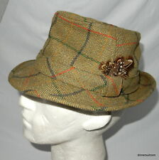 John Foster Headwear 'Down Brim Trilby' Tweed Wool Cloth Hat Fedora - Size 7-1/8