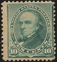 1890 SC #226 Mint F - 10c green Webster H  - CV $175.00 (42884)