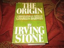 Irving Stone The Origin A Biographical Novel of Charles Darwin (1980 Hd) SIGNED