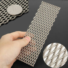 Titanium 0.5mm Titan Masche Blech Lochblech Metall Tafel  50mm X 165mm