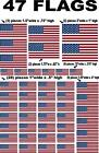 AMERICAN FLAGS 47 Pcs. -1/12-1/10 R/C MODEL Decal Sticker SHEET  DIE CUT NASCAR
