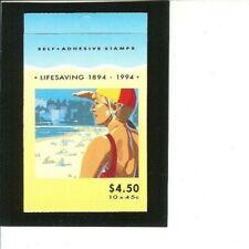 "Australia Unexploded Booklet # 1366b Mnh F-Vf ""Life Saving"" 1974 1 pane of 10"