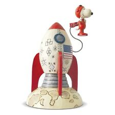 Enesco Jim Shore Peanuts The Beagle Has Landed Snoopy Figurine NEW IN STOCK