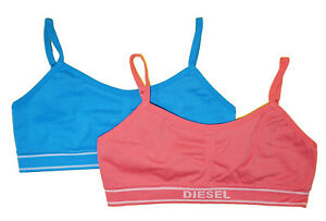 Diesel Girls Pink & Blue Two-Pack Seamless Bralette Size S M L XL