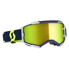 2021 Scott Furia Motocross MX Occhiali Blu/grigio - Giallo cromo Specchio Lente