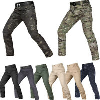 Men's Army Outdoor Tactical Pants Military Urban Combat Cargo Casual Waterproof