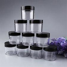 10X 30ml Clear Empty Pot Bottle Nail Art Polish Glitter Powder Acrylic Container