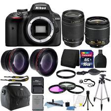 Nikon D3400 24MP Digital SLR Camera + 18-55mm + 70-300mm Lens + Deluxe Bundle