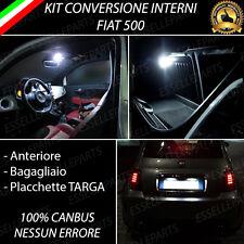 KIT FULL LED INTERNI FIAT 500 CONVERSIONE INTERNA COMPLETA + LED TARGA CANBUS