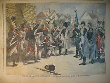 NAPOLEON AU THEATRE PORTE SAINT-MARTIN COLONEL ROQUEBRUNE LE PETIT JOURNAL 1897