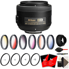 Nikon AF-S DX NIKKOR 35mm f/1.8G Lens + 52mm Top Accessory Kit